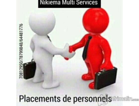 Placement de personnels employes