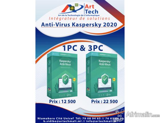 Anti-Virus Kaspersky 2020 1PC et 3PC