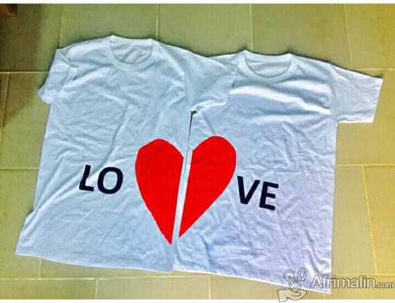 Tshirts de couples