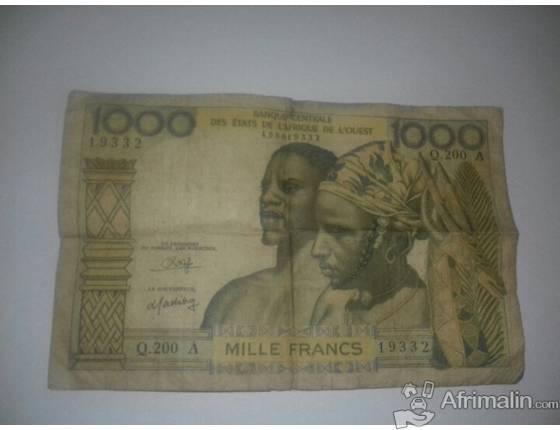 Vente  de Billet de Banque  de 1960
