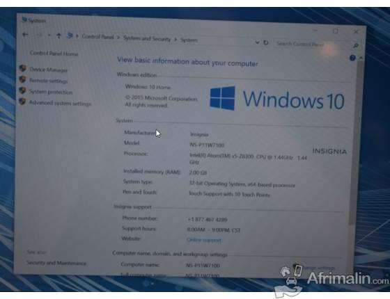 """Insignia Flex Touch""""11.6""""Pouce- Intel Quad-Core, 2GB Ram, 32GB, Double Camera"""