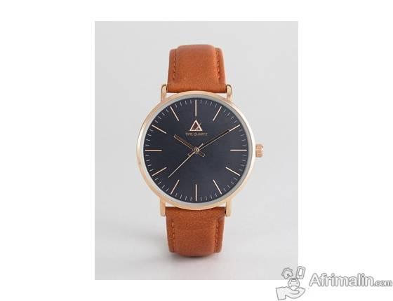 pas mal 76be2 f7779 ASOS - Montre à cadran classique et bracelet en cuir ...