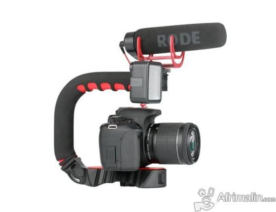 Stabilisateur Video à 3 Sabots pour Camera - Smartphone - GoPro
