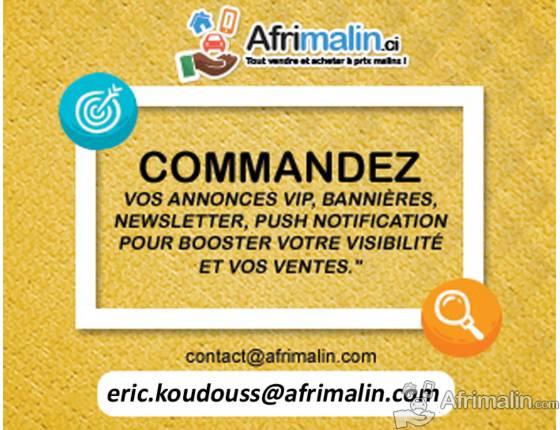 Achetez vos Bannières publicitaires & annonces VIP sur Afrimalin.ci