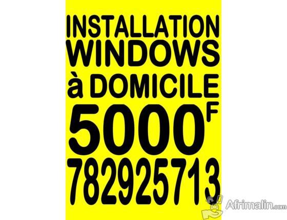 Installation de Windows sur Mac Book ou PC à domicile partout à dakar