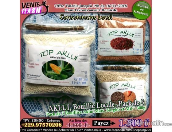 AKLUI, Bouillie Locale, Pack de 3