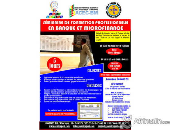 JJ-1 Urgent : Devenez Consultant ou Expert en Banque et Microfinance