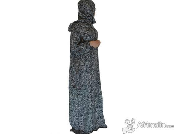 Robe de prière avec foulard intégré