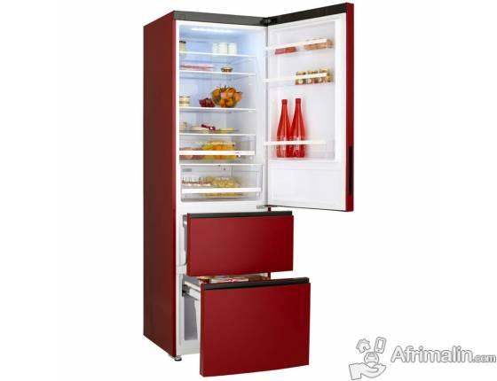 Réfrigérateur Combiné NO FROST 347L HAIER A1FE635CRJ - Rouge