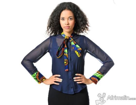 Vêtement : Chemise en mousseline de soie et en tissu  XS-3XL