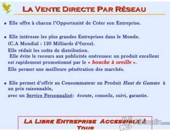 AVANTAGES DU BUSINESS FOREVER LIVING PRODUCTS.