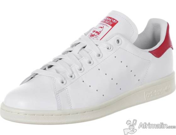 Adidas Stan Smith Blanc-Rouge