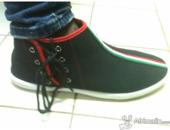 Chaussure montante noir - toutes pointures