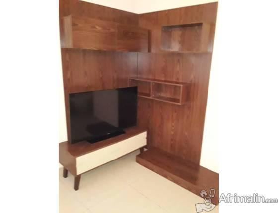Meuble télé en bois de luxe
