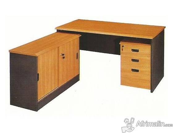 Bureau secretaire avec retour et trois tiroirs abidjan région d