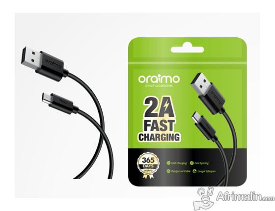 Câble De Données Chargeur Oraimo CD-52BR Noir