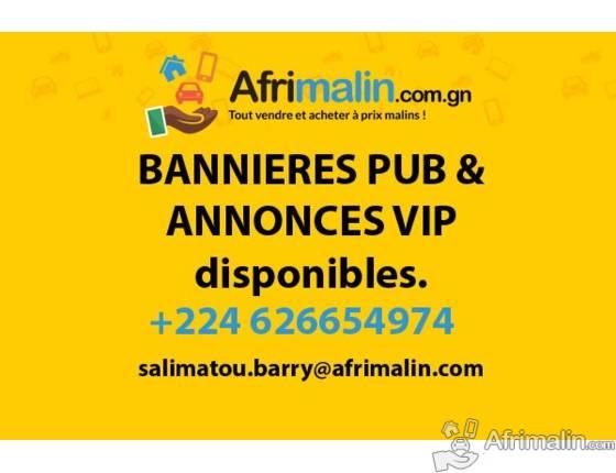 Offre spéciale vente de bannières et annonces VIP sur www.afrimalin.com.gn