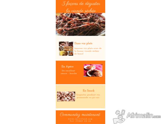Succulente viande séchée de boeuf