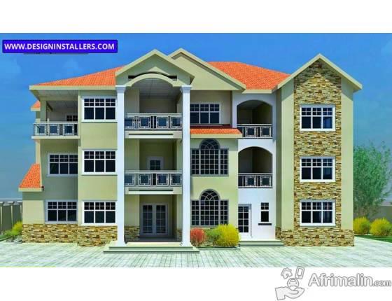 vente de plans de maison con u aux etats unis conakry. Black Bedroom Furniture Sets. Home Design Ideas