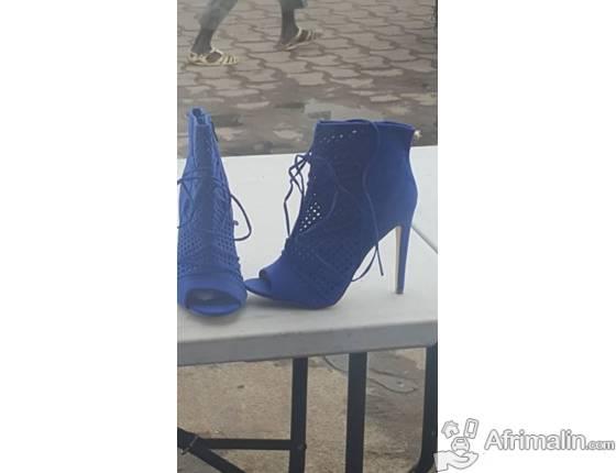 6bd05f3d7c3 Chaussure JUSTFAB Bottine bleu - Douala