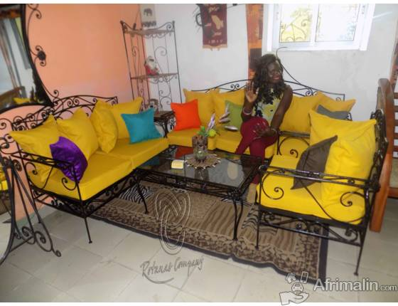 Salon En Fer Forge 6places 01 Table Douala Region De Littoral