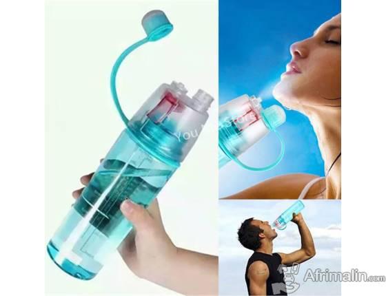 Bouteille à eau spray en plastique