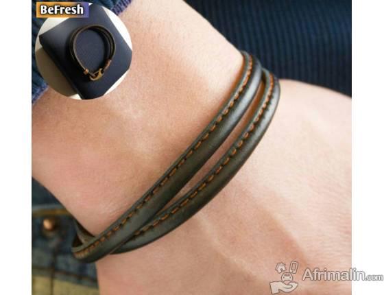 Joli bracelet simple en cuir pour homme