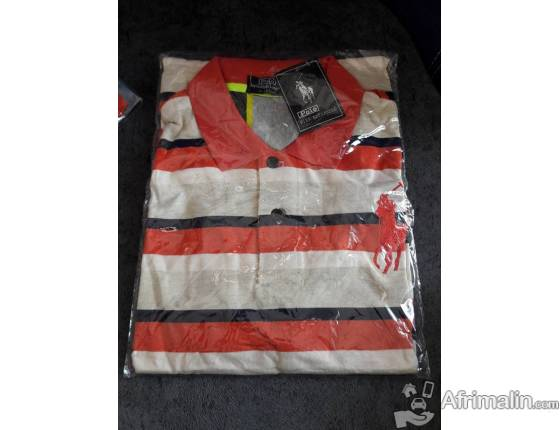 Polo homme à rayure multicolor - Taille standard