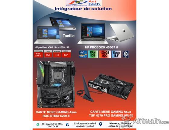 PC Portable Hp et Carte Mère Gaming Asus