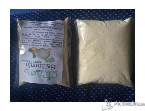 gari aromatisé au lait de coco
