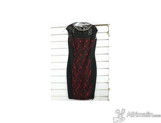 Robe dentelle noire - Taille standard