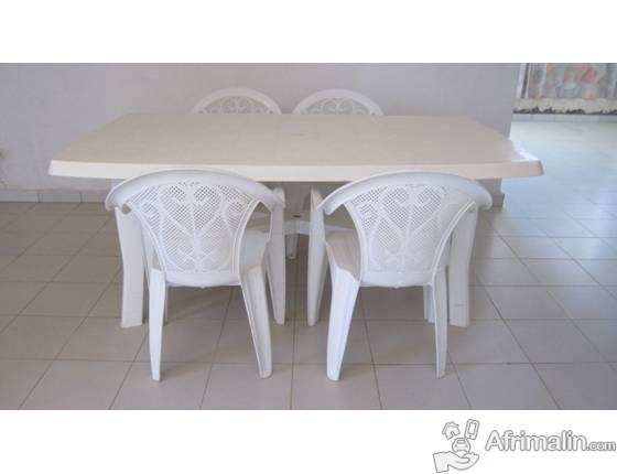 Vente Meubles : Table de jardin gm plus 4 chaises - Dakar, Région de ...
