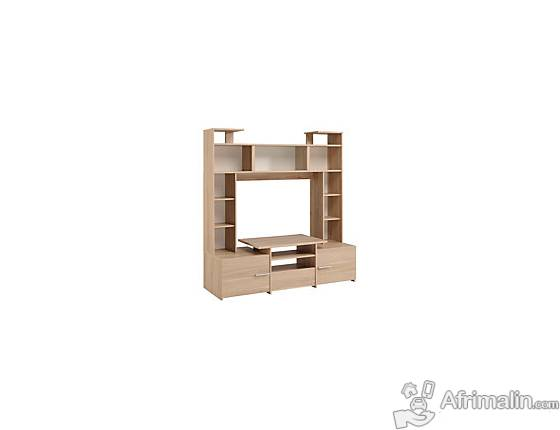 armoire avec cube de rangement tiroir et porte televiseur. Black Bedroom Furniture Sets. Home Design Ideas