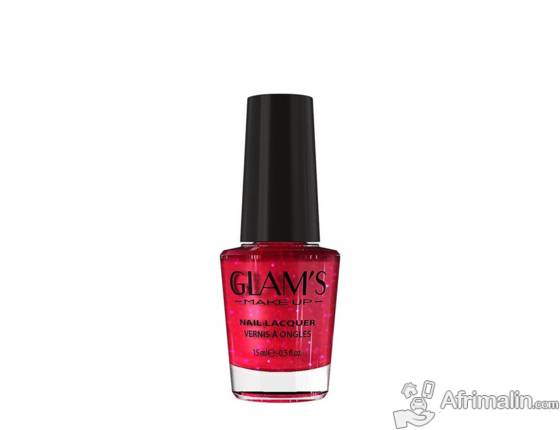 Vernis à ongle Glam's couleur ROUGE.