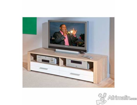 pack meuble tv table basse etagere murale dakar. Black Bedroom Furniture Sets. Home Design Ideas