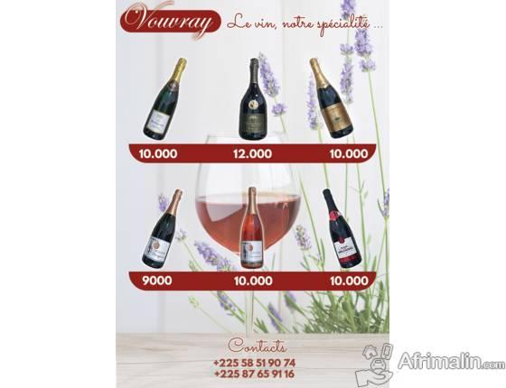 vente de vins pétillant
