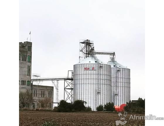 Silos de stockage de céréales