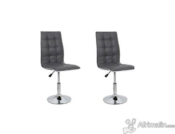 Leaf lot de 2 chaises grises