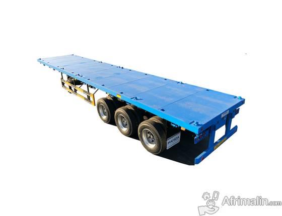 50 tonnes remorque porte-conteneur à plat avec verrouillage du conteneur