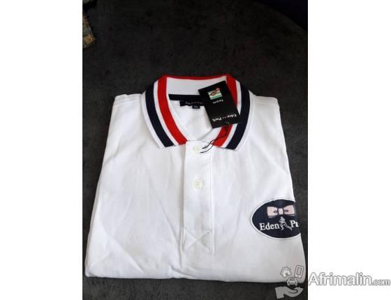 Polo homme Eden Park - Blanc - Taille standard