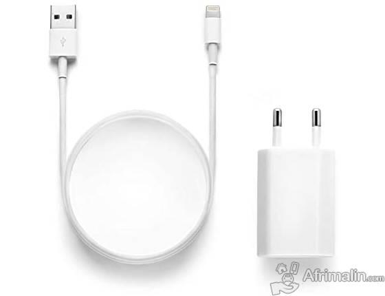 Accessoire Téléphone : Chargeur secteur + cable USB Iphone