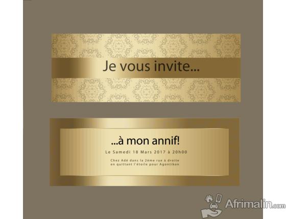 Conception De Cartes D Invitation Bapteme Mariage Cotonou