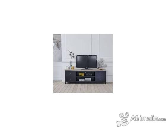 Table Tv Noire Avec Support Tv Avec Tiroirs 1200400 Abidjan