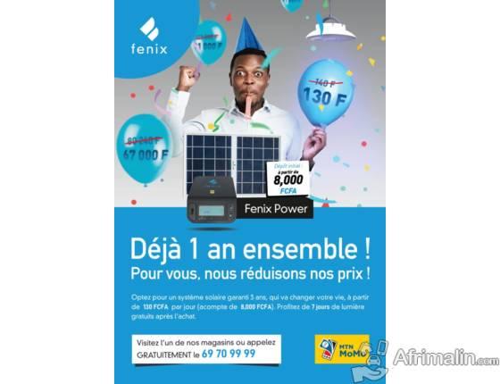 Energie solaire Fenix Bénin baisse ses prix