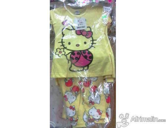 Ensemble 2 pieces Hello Kitty jaune