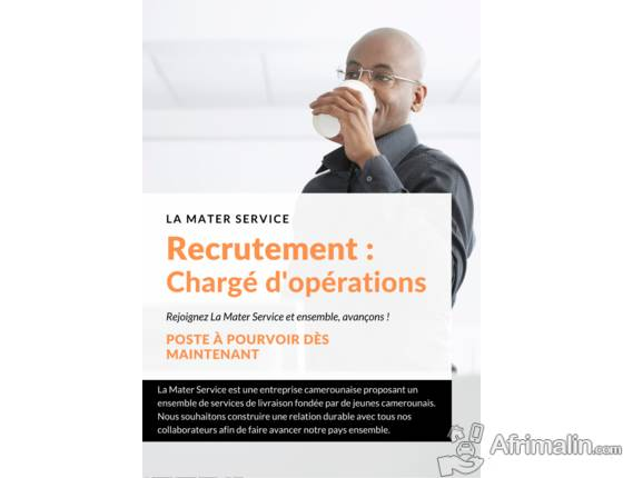MATER SERVICE RECRUTE UN CHARGÉ D'OPÉRATIONS