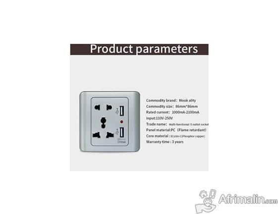 Prise murale USB