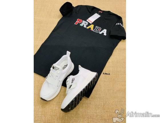 T-shirts  100% coton + Chaussure Basket