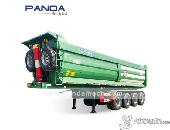 4 axle 40cbm dump trailer camions bennes - semi-remorques