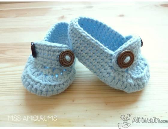 Chaussures de bébé en laine (0 à 3ans)